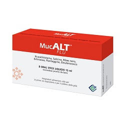 MUCALT FLU 8 ORAL STICK MONODOSE - Spacefarma.it