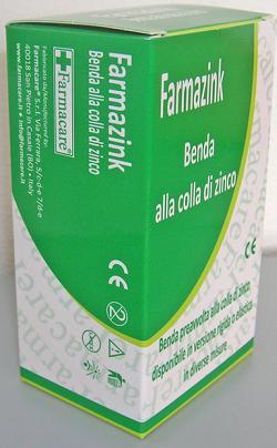 BENDA MEDICATA ELASTICA FARMAZINK CON OSSIDO DI ZINCO CM10X10M 1 PEZZO - Farmawing