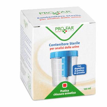 CONTENITORE URINE PROFAR CON TAPPO DI SICUREZZA 120ML - Farmacia 33