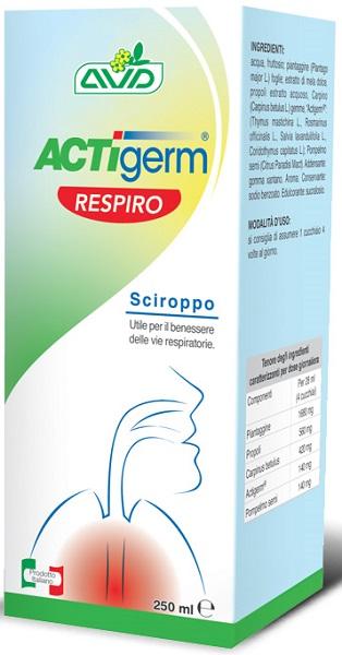 ACTIGERM RESPIRO SCIROPPO 250 ML - Farmastar.it