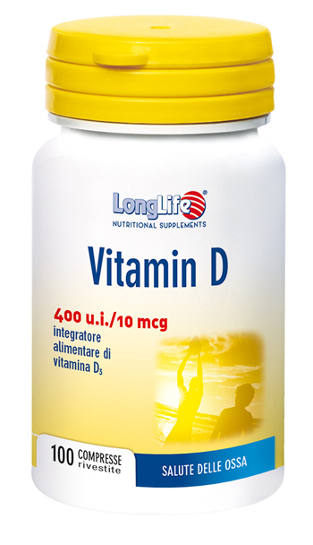 LONGLIFE VITAMINA D3 400UI 100 COMPRESSE - Carafarmacia.it