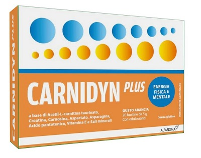 CARNIDYN PLUS 20 BUSTINE DA 5 G GUSTO ARANCIA - Farmabros.it