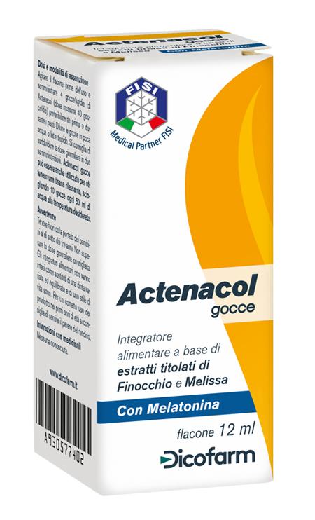 ACTENACOL GOCCE 12 ML CON MELATONINA - Farmawing