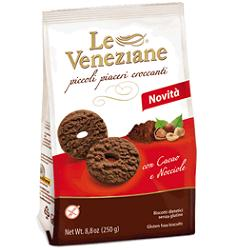 LE VENEZIANE BISCOTTI CACAO/NOCCIOLA 250 G -  Farmacia Santa Chiara