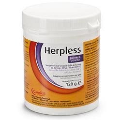 HERPLESS POLVERE BARATTOLO 120 G CON MISURINO - Farmacielo