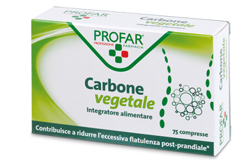 PROFAR CARBONE VEGETALE 75 COMPRESSE - Farmapage.it
