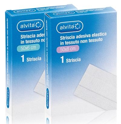 GARZA ALVITA IN TESSUTO NON TESSUTO ESTENSIBILE BIANCO 50X8CM - Farmacia Giotti