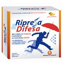 RIPRESA & DIFESA GRANULATO EFFERVESCENTE MANDARINO 20 BUSTINE - Spacefarma.it