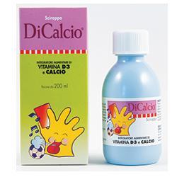 DICALCIO SCIROPPO MUCOLITICO INTEGRATORE ALIMENTARE DI CALCIO E VITAMINA D3 200 ML - farmasorriso.com
