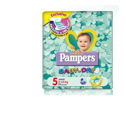 PAMPERS BABY DRY JUNIOR PANNOLINI PACCO DOPPIO 46 PEZZI - Farmawing
