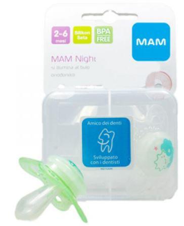 MAM NIGHT SUCCHIETTO 2-6 MESI SILICONE CONFEZIONE DOPPIA - Farmaci.me