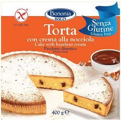 BONONIA TORTA ALLA CREMA DI NOCCIOLA SENZA GLUTINE 400 G - SUBITOINFARMA