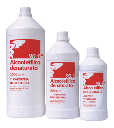 ALCOOL ETILICO DENATURATO 90,1% 250 ML - La farmacia digitale