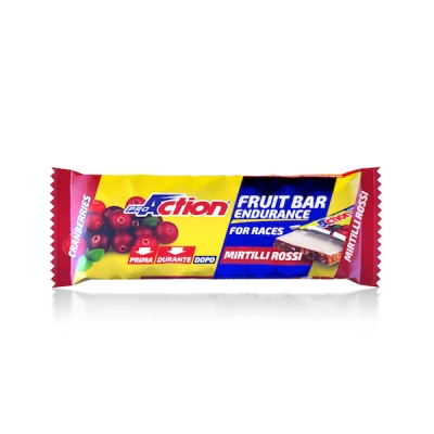 ProAction Fruit Bar Endurance Barretta Energetica al Mirtillo Rosso 40 g - latuafarmaciaonline.it