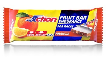 PROACTION FRUIT BAR BARRETTA ENERGETICA ALL'ARANCIA 40 G - Farmacia Giotti