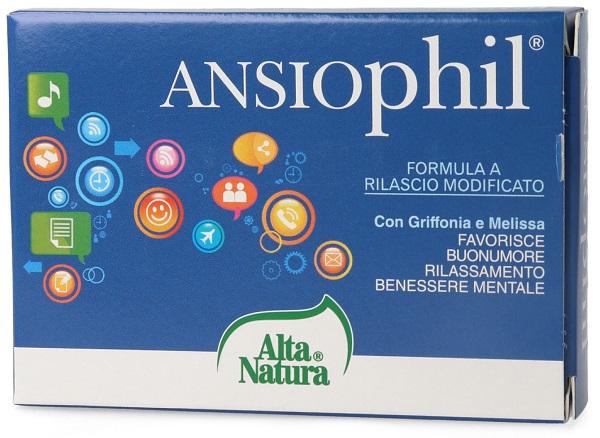 Alta Natura Ansiophil Integratore per Disturbi dell