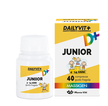 DAILYVIT+ JUNIOR MULTIVITAMINICO E MULTIMINERALE 40 COMPRESSE MASTICABILI - Farmacia Bartoli