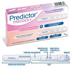 PREDICTOR TEST DI GRAVIDANZA PRECOCE 1 TEST + 1 TEST DI CONFERMA - Farmaci.me