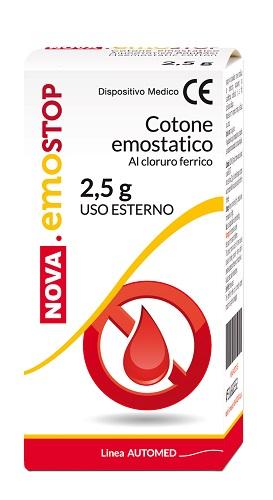 Nova EmoStop Cotone Emostatico Al Cloruro Ferrico 2.5 g - latuafarmaciaonline.it
