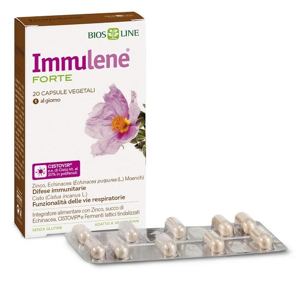 BIOSLINE IMMULENE FORTE 20 CAPSULE - Farmacianuova.eu