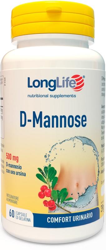 LONGLIFE D-MANNOSE 60 CAPSULE - Farmajoy