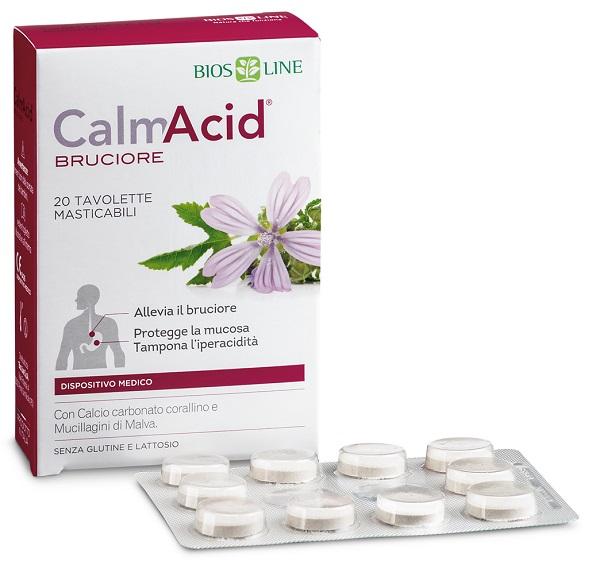 BIOSLINE CALMACID BRUCIORE 20 TAVOLETTE MASTICABILI - La farmacia digitale