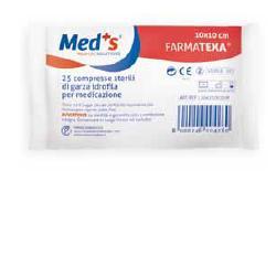 GARZA COMPRESSA MEDS FARMATEXA IDROFILA 12/8 10X10 CM 25 PEZZI - Farmacia Castel del Monte