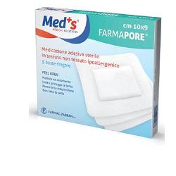 MEDS PORE MEDICAZIONE ADESIVA 10X12 CM 5 PEZZI - Farmacielo