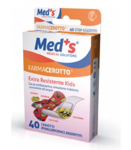 CEROTTO MEDS STRIPS KIDS IPOALLERGENICO ASSORTITI 40 PEZZI - Farmaseller