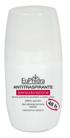 Euphidra Deodorante Roll On Antitraspirante Per Ipersudorazione