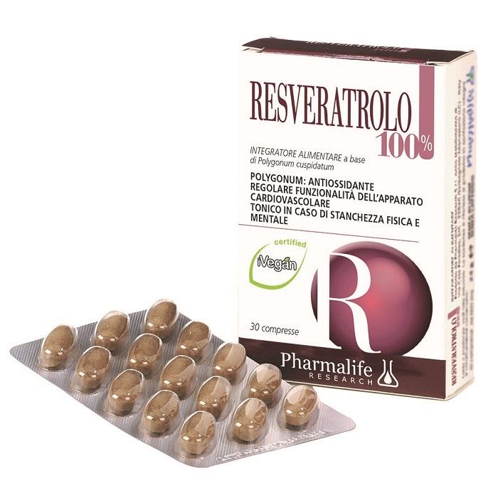 RESVERATROLO 100% 30 COMPRESSE - Farmacia Centrale Dr. Monteleone Adriano