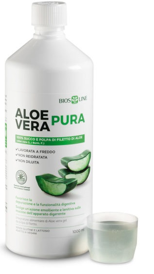 BIOSLINE ALOE VERA SUCCO POLPA 1 LITRO - Farmafamily.it