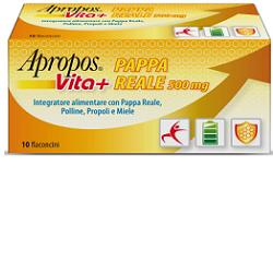 APROPOS VITA+ PAPPA REALE 500 MG 10 FLACONCINI 10 ML - FarmaHub.it