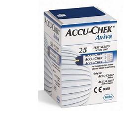 STRISCE MISURAZIONE GLICEMIA ACCU-CHEK AVIVA BRK RETAIL 25 PEZZI - Farmastar.it