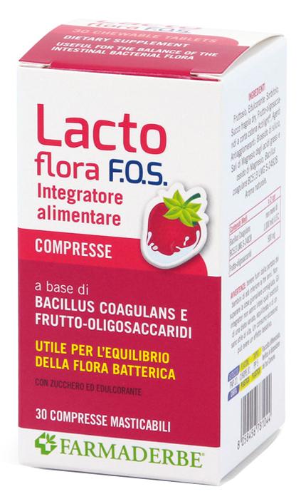 LACTO FLORA FOS 30 COMPRESSE MASTICABILI 48 G