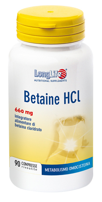 LONGLIFE BETAINE HCL 90 COMPRESSE - Farmaseller
