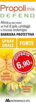 PROPOLI MIX DEFEND SPRAY ORALE FORTE 30 ML SAPORE MENTA - farmaciadeglispeziali.it