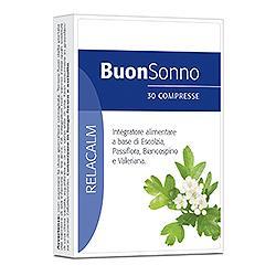 BUONSONNO LABORATORIO DELLA FARMACIA 30 COMPRESSE LINEA RELACALM - Farmaciacarpediem.it
