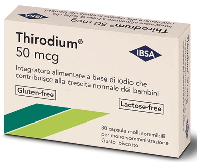THIRODIUM 50MCG 30 CAPSULE SPREMIBILI MONO-SOMMINISTRAZIONE 7,54 G - Spacefarma.it