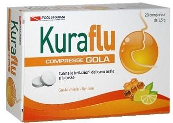 KURAFLU GOLA LIMONE/MIELE 20 COMPRESSE - Farmaseller