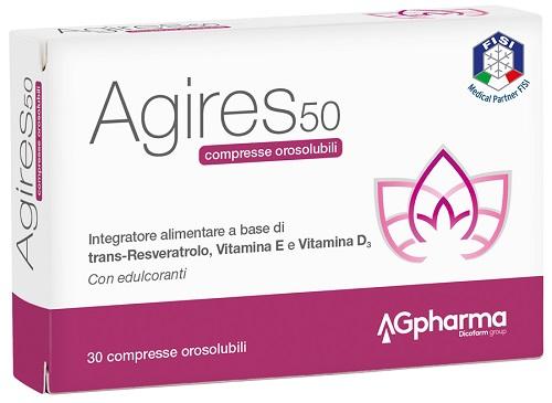 AGIRES 50 30 COMPRESSE OROSOLUBILI SCATOLA 5,4 G - Farmabellezza.it