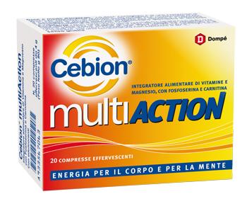 CEBION MULTIACTION 20 COMPRESSE EFFERVESCENTI - La farmacia digitale