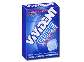 VIVIDENT XYLIT CUBE ICE BLUE - Farmastop