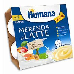 Humana Merenda Al Latte - Mela Albicocca 4x100g - Arcafarma.it