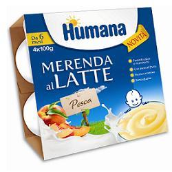 Humana Merenda al Latte per Neonati da 6 Mesi Gusto Pesca 4 x 100g - Arcafarma.it
