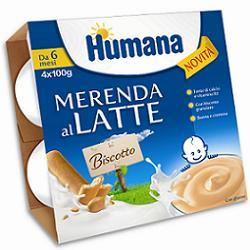 HUMANA MERENDA GUSTO BISCOTTO 4 X 100 G - Farmacia Castel del Monte