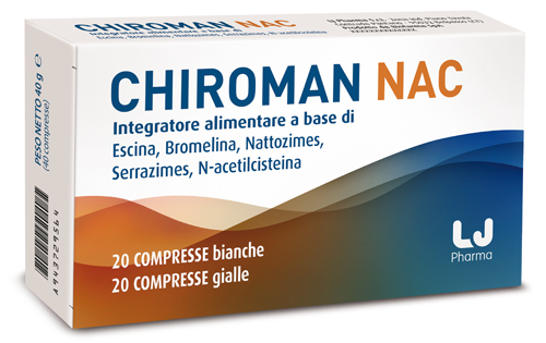 CHIROMAN NAC 20 COMPRESSE BIANCHE + 20 COMPRESSE GIALLE - Farmafamily.it