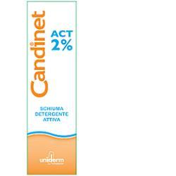 Uniderm Candinet Act 2% Schiuma Detergente Attiva 150ml - Zfarmacia