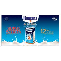 HUMANA 3 JUNIOR DRINK 470 ML 12 PEZZI - Carafarmacia.it