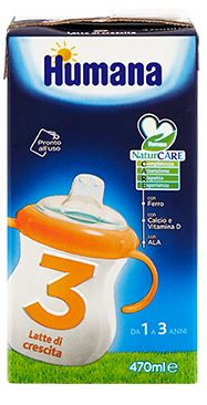 Humana 3 Junior Drink Latte Di Crescita 470ml - Carafarmacia.it